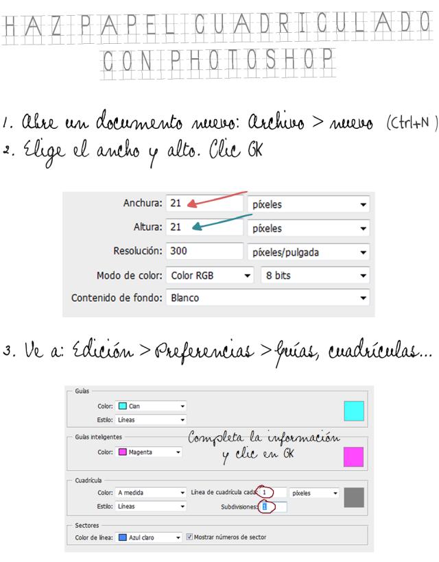 Cómo hacer papel cuadriculado con photoshop | Apuntes Multimedia