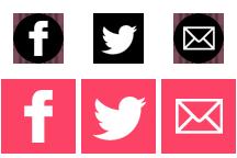 sprite iconos sociales